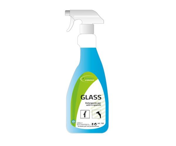 GLASS Multiuso per vetri e specchi pronto all'uso Flac. 750 ml