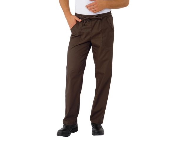 ISACCO pantalone unisex CACAO 65 poliester 35 cottone 195 gr